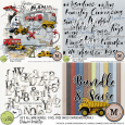 He's All Mine Bundle {incl FWP Inked Chipboard Alpha} M3 {June 18}