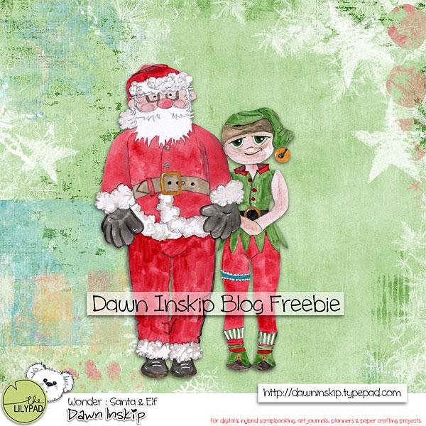 Santa & Elf Blog Freebie
